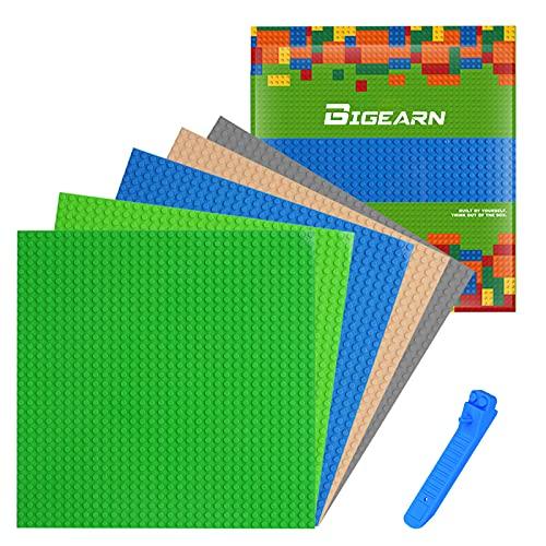 5 Stück Bauplatte für Classic Bausteine mit Steinlöser Trenner Werkzeug Plastik Grundplatte 25 x 25 cm...