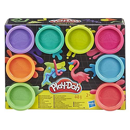PlayDoh E5063 0 8erPack mit Spielknete in 8 Neonfarben, Knete für fantasievolles und kreatives Spielen