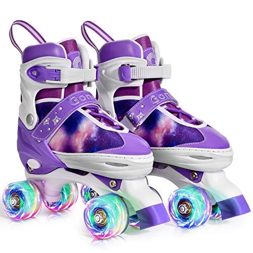 Gonex Verstellbar Rollschuhe für Kinder,mit Leuchtenden Rädern Roller Skates Bequem und atmungsaktiv...
