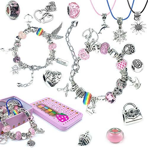 Amokee Charm Armband Kit DIY, Geschenk für Mädchen Teen, Schmuck Making Kit für Kinder, Schmuck...