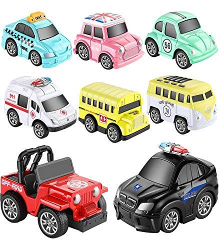 Aufziehautos Spielsachen Spielzeugauto Set Aufzieh LKW und Auto Spielzeug Druckgussautors für Jungen...