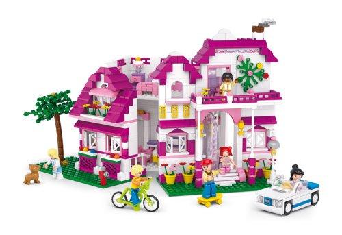 Sluban SL95306, Große Villa (726 Teile) [M38-B0536], Spielset , Klemmbausteine, City, mit Spielfigur,...
