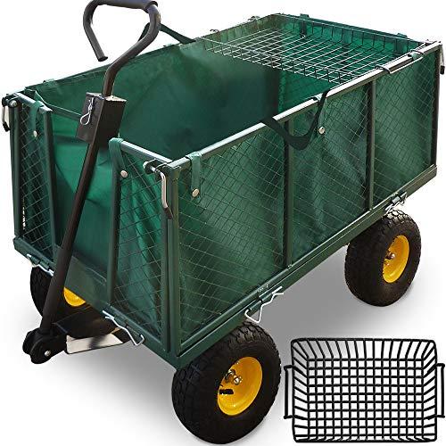 Deuba Bollerwagen herausnehmbare Plane bis 550kg belastbar Handwagen Gartenkarre Gartenwagen...