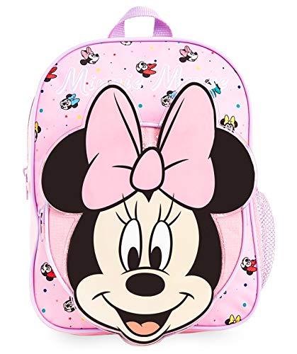 Disney Rucksack Kinder, 3D Schulrucksack mit Minnie Mouse, Ideal für Schule Reisen, Rosa...