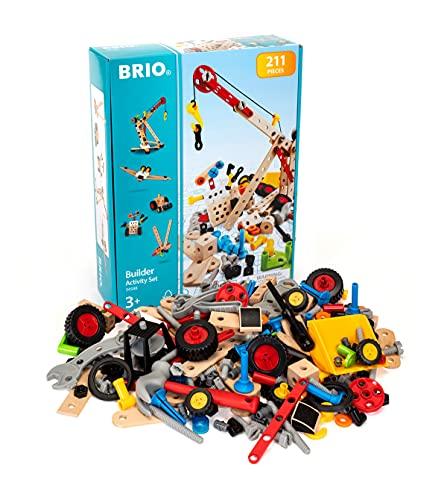 BRIO Builder 34588 Kindergartenset 210 tlg. - Das kreative Konstruktionsspielzeug aus Schweden –...