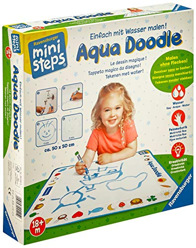 Ravensburger ministeps Aqua Doodle - Malen für Kinder ab 18 Monaten, Kreatives Malset für fleckenfreien...