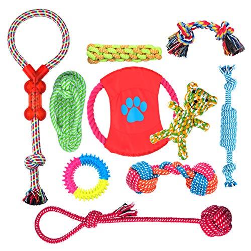FONPOO BabyGift HundeSpielzeug, Hergestellt aus Natürlicher Baumwolle ungiftig und geruchlos Robust...
