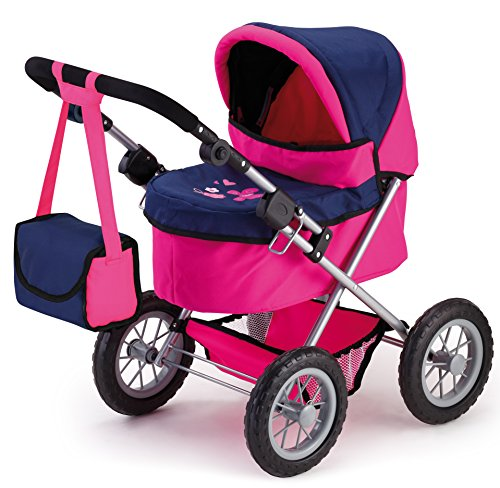 Bayer Design 13013 - Puppenwagen Trendy, rosa/blau