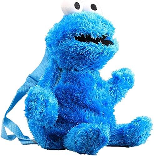 Sesamstraße Plüsch Rucksack, Soft Plüsch Spielzeug Cartoon Monster Big Bird Gefüllte Schultasche für...