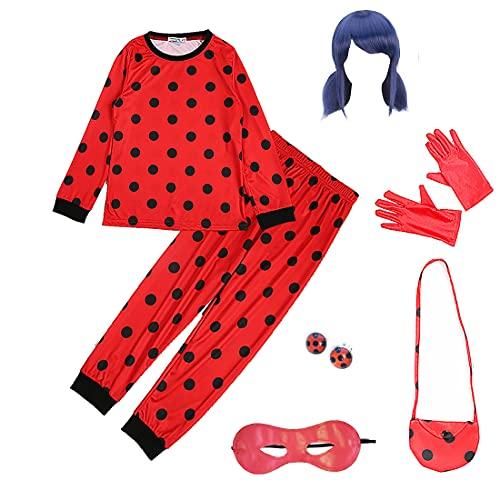 GREAHWD Mädchen Marienkäfer Kostüm Kinder Halloween Karneval Kostüme für Kinder Overall Party...