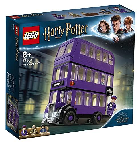 LEGO 75957 Harry Potter Der Fahrende Ritter Spielzeug, Dreifachdeckerbus, Sammlerset mit Minifiguren