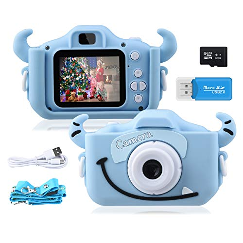 """Kinder Kamera, 2.0""""Display 1080PHD 20MP GREPRO Digitalkamera für 4-14 Jahre alt mädchen und jungen,..."""