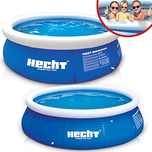 Großer HECHT Quick Up Pool Familienpool – 360 x 90 cm und 300 x 76 cm zur Auswahl – Aufblasbarer...