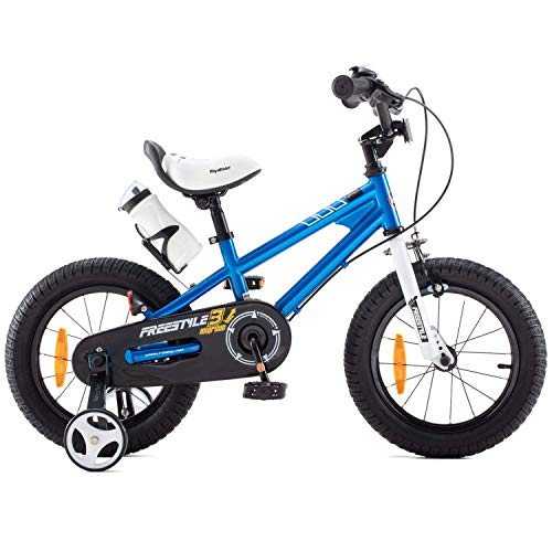 RoyalBaby Kinderfahrrad Jungen Mädchen Freestyle BMX Fahrrad Stützräder Laufrad Kinder Fahrrad 14 Zoll...
