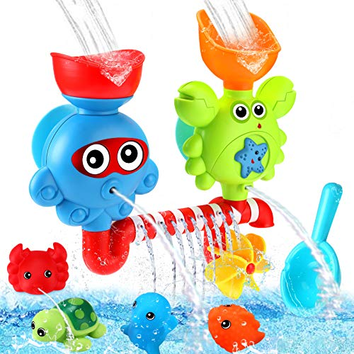 Luclay Badespielzeug für Babys, Kleinkind Badewannenspielzeug für 1 2 3 4 + Jährige Babys, mit Starkem...