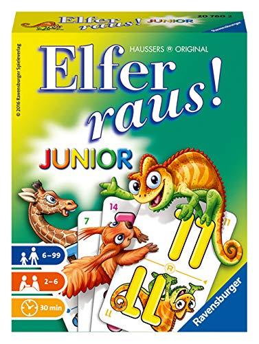 Ravensburger - 20760 Elfer Raus! Junior - Gesellschaftsspiel für 2-6 Spieler, Spiel ab 6 Jahren für...
