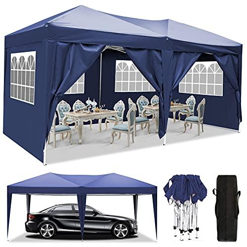 3x3m/3x6m UV Schutz 50+ Faltpavillon, Pavillon, wasserdicht gartenpavillon, festzelt partyzelt...