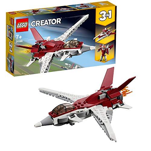 Lego 31086 Creator Flugzeug der Zukunft, Raumschiff der Zukunft oder Roboter der Zukunft, 3-in-1 Bauset,...