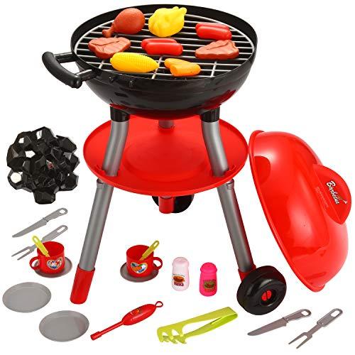 JOYIN 24 PCS Barbecue Grill Kinder BBQ Kochen Küche Spielzeug mit BBQ-Zubehör Kochen Spielset für...