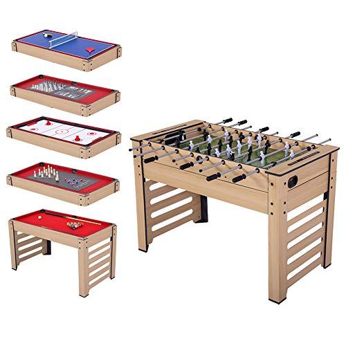 BLUE HAWAII 8 in 1 Multigame Spieletisch , inkl. Kickertisch, Billardtisch usw. Gefahrstofftest...