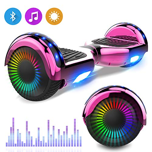 RCB Hoverboards Kinder 6,5 Zoll Elektro Scooter mit Bluetooth LED Flash Elektroroller mit...