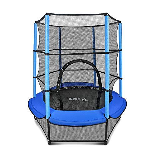 LBLA Trampolin Kinder Ø 140 cm Indoortrampolin Jumper mit Sicherheitsnetz, Randabdeckung Kindertrampolin...