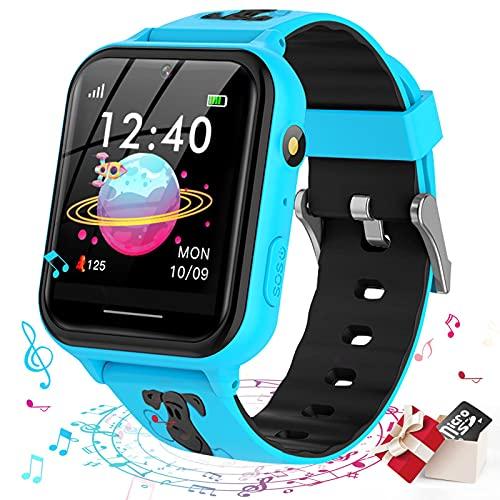 Smooce Kinder Smartwatch Telefon,Spiele Musik Smart Watch für Kinder[1 GB Micro SD Enthalten],Kids Smart...