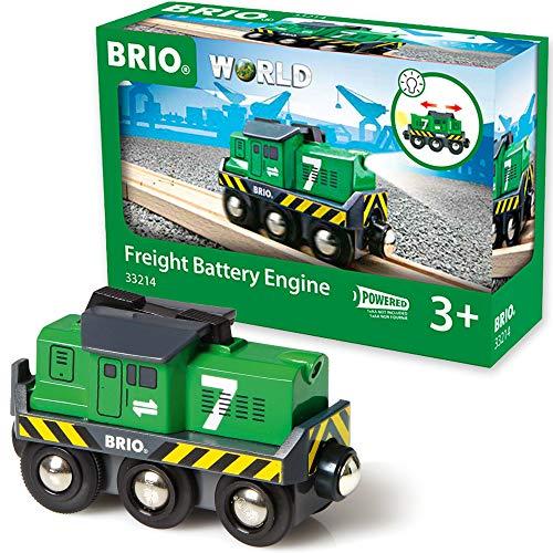 BRIO World 33214 - Batterie-Frachtlok
