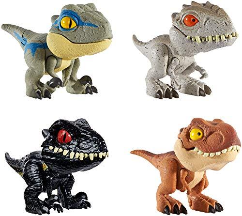 Jurassic World GKH02 - Dinosaurier Spielzeug Schnapp Dinos zum Sammeln Dinosaurier 4er Geschenkset,...