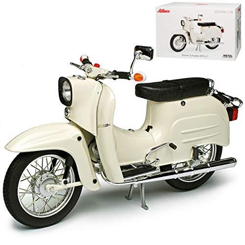 Simson KR 51/1 Schwalbe Weiss 1/10 Schuco Modell Motorrad