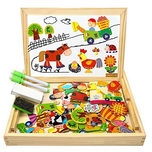 Magnetische Puzzletafel aus Holz