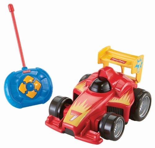 Fisher-Price BHX87 - Fernlenkflitzer, ferngesteuertes Auto, Motorikspielzeug mit Fernbedienung, rot,...