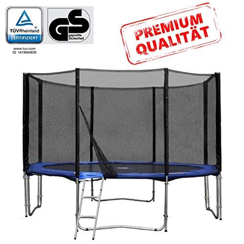 Baunsal GmbH & Co.KG Gartentrampolin Trampolin 366 bis 370 cm in blau mit Sicherheitsnetz und...