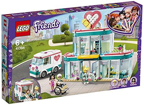 LEGO 41394 Friends Krankenhaus von Heartlake City, Spielzeug ab 6 Jahren mit Mini Puppe Emma und...