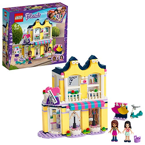 LEGO 41427 Friends Emmas Mode-Geschäft Set, Puppenhaus mit Mini Puppen Andrea & Emma und Accessoires,...