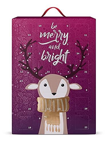 SIX Schmuck-Adventskalender für Frauen Be Merry and Bright mit 24 schicken Überraschungen, Silber und...