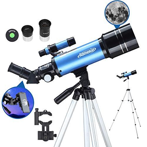 Aomekie Teleskop 70/400 Fernrohr Teleskop Astronomisches Teleskop für Kinder Einsteiger...