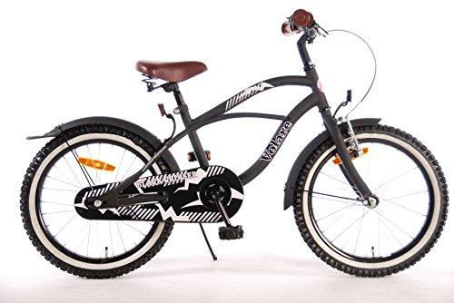 Kubbinga Jungen Volare Black Cruiser Bike, Mattes schwarz, 18-Inch