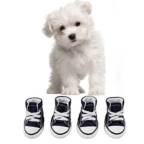 KEESIN Puppy Haustier Hund rutschfeste Leinwand Sport Schuhe Outdoor Sneaker Stiefel Causal Schuhe, Gummi...
