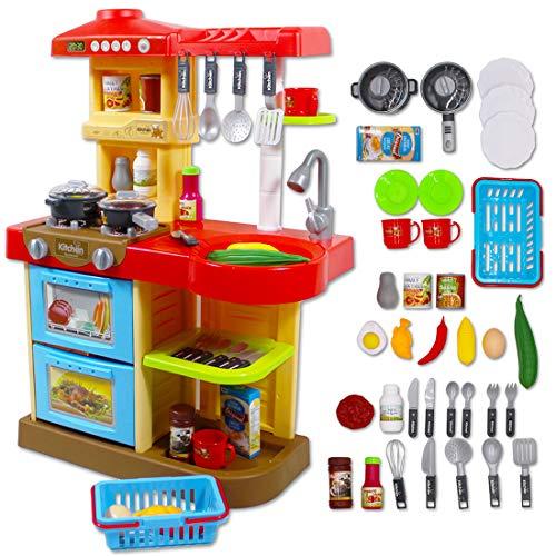 """deAO Kinder-Küchenspielset """"My Little Chef""""(""""Mein kleiner Koch"""") mit 30-teiligem Zubehör in den..."""