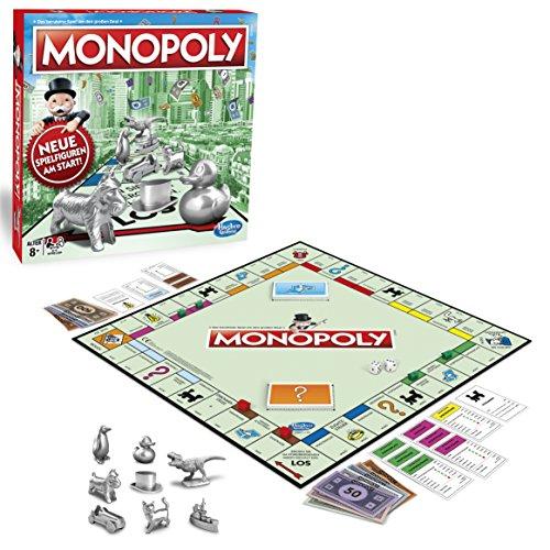 Hasbro Gaming C1009100 Monopoly Classic, Gesellschaftsspiel für Erwachsene & Kinder, Familienspiel, der...