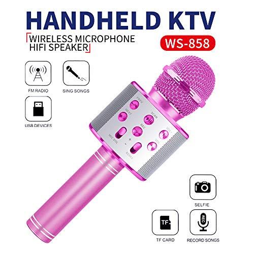 Wiwi Kinder Karaoke Mikrofon, Gesangsmaschine Mädchen Mikrofon Familie Party Geschenk Mädchen Junge...