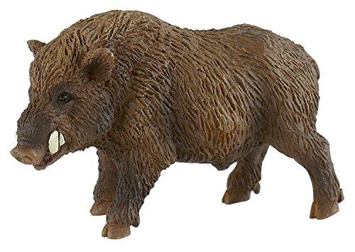 Bullyland 64446 - Spielfigur, Wildschwein, ca. 8,5 cm, ideal als Torten-Figur, detailgetreu, PVC-frei,...