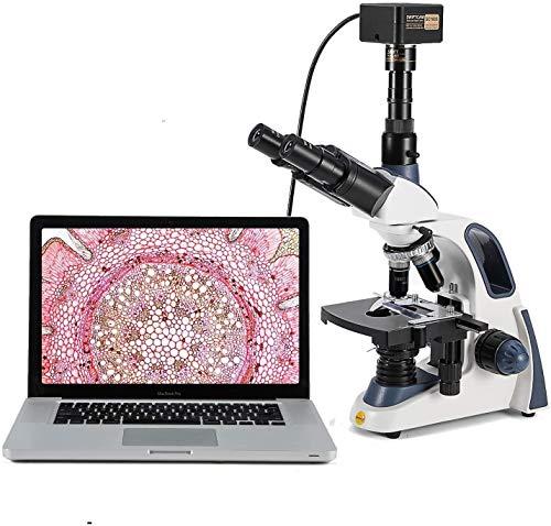 SWIFT SW380T Trinokulares Durchlicht Mikroskop 40X-2500X-Vergrößerung,Siedentopfkopf,Labor mikroskop...