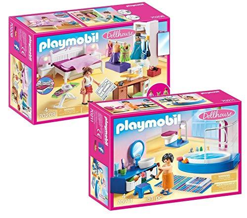 Playmobil® Möbelset für 70205 Dollhouse Puppenhaus oder 9266 Modernes Wohnhaus: 70208 Schlafzimmer mit...