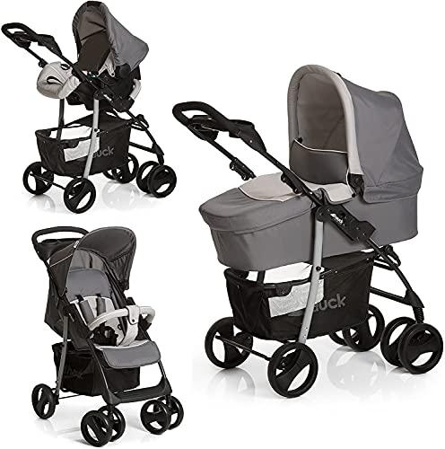Hauck Kombi Kinderwagen Shopper SLX Trio Set / inkl. Baby Wanne mit Matratze / Reise System mit Autositz...