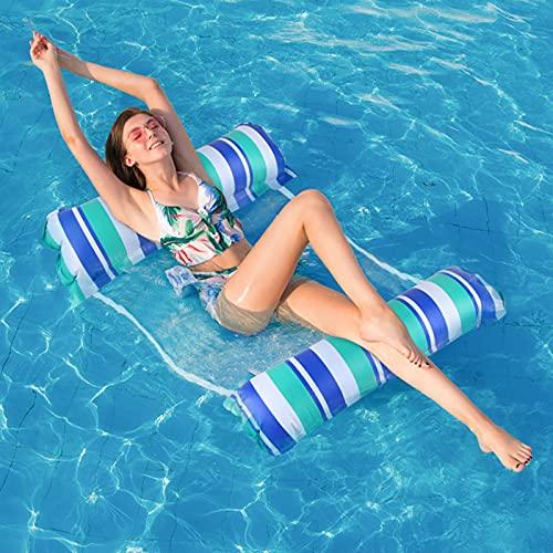 solawill Aufblasbare Wasserhängematte, 4 in 1 Ultrabequeme Aufblasbares Schwimmbett Loungesessel...