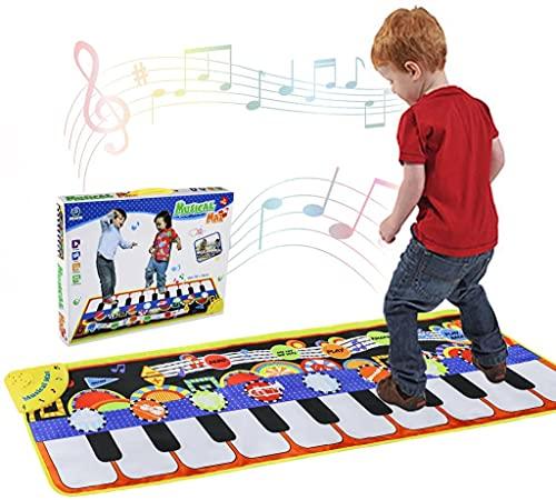 Piano Matte, Tanzmatten Klaviermatte Musikmatte Kinder, 5 Modi 8 Instrumente Sounds Spielzeug Musik...