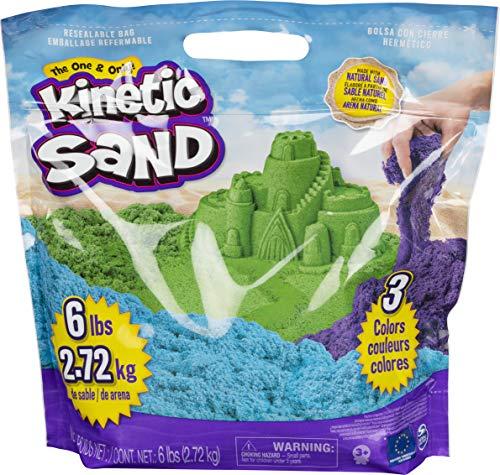 Kinetic Sand 6055453 - 2,7 kg original Kinetic Sand in 3 Farben
