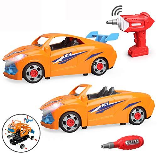 LUKAT Spielzeug für 3 Jahre alte Jungen Mädchen, Ferngesteuertes Auto RC DIY Montage Auto Spielzeug...